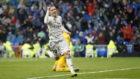 Luka Modric celebra el segundo gol ante el Sevilla