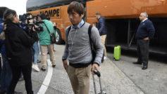 Inui, durante un viaje con el Real Betis.