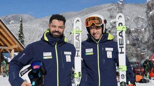 Miguel Galindo y Jon Santacana, la pareja de esquiadores españoles...