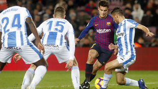 Coutinho during the match against Leganés.