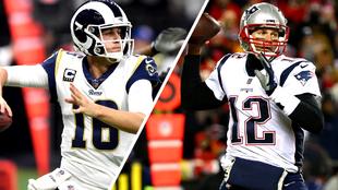 Jared Goff y Tom Brady lucharán por el Super Bowl LIII.
