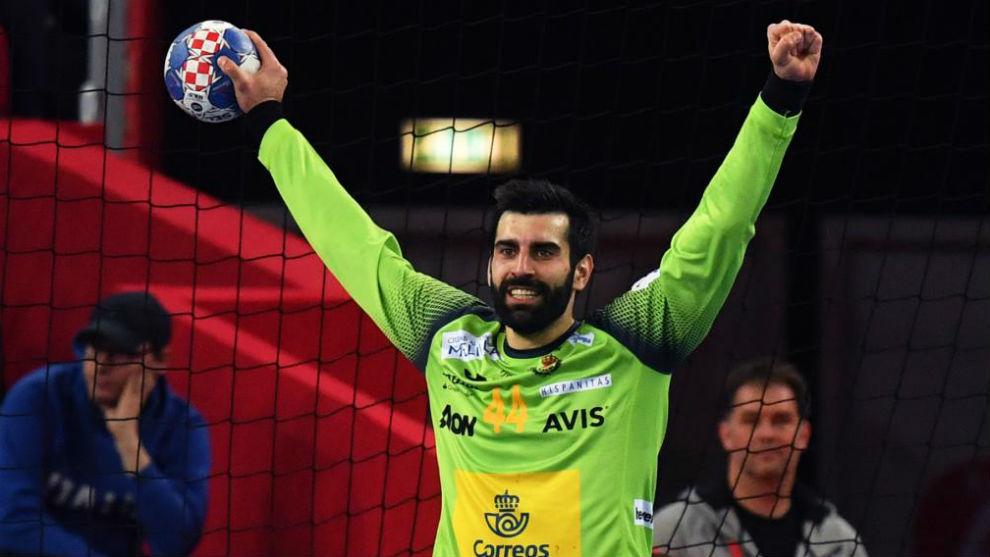 Rodrigo Corrales, durante un partido del pasado Europeo /