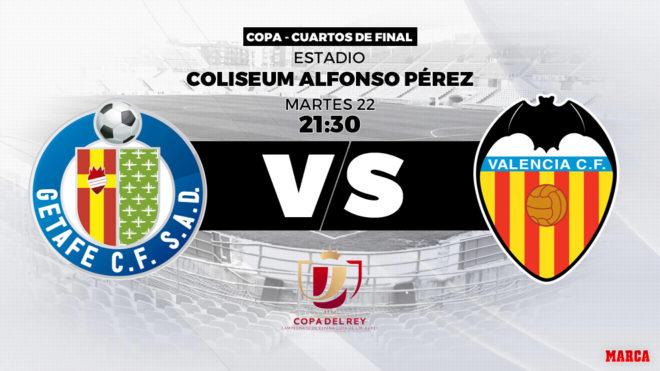 Getafe vs Valencia: Horario y dónde ver hoy en TV el partido de ...