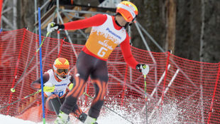 Miguel Galindo y Jon Santacana, en los Juegos de Pyeongchang.