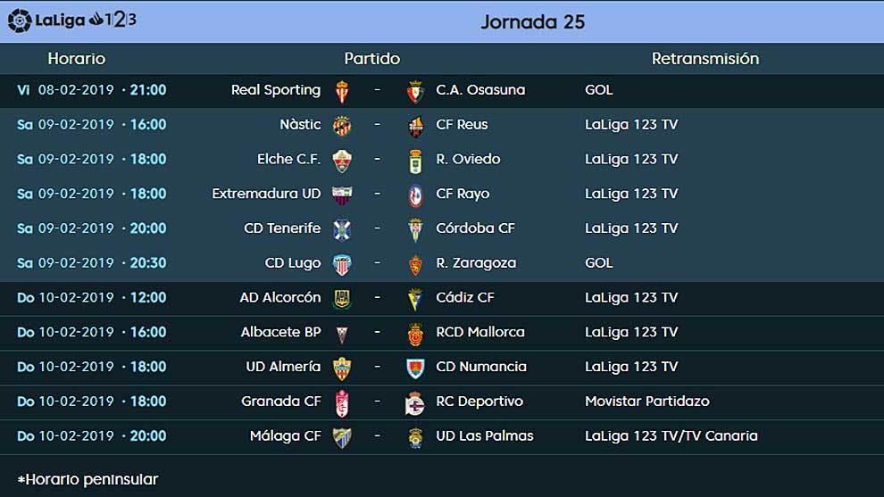 As Calendario Liga 123.Liga 123 El Partidazo Granada Depor Centra Los Horarios De
