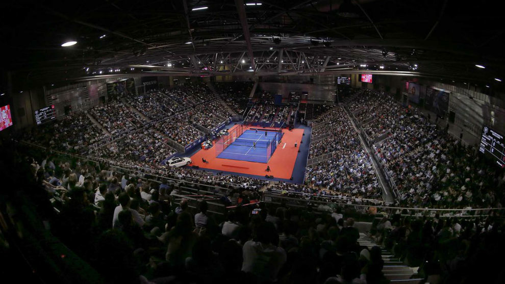 Aspecto de la pista central del Master Final del World Pádel Tour...
