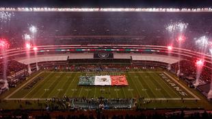 Panorámica del Estadio Azteca previo al Raiders vs Texans en 2016.
