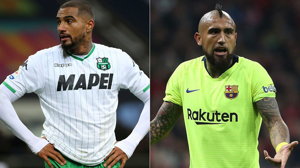 Kevin-Prince Boateng and Arturo Vidal.