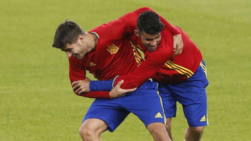 Griezmann y Costa dan el o.k. a la llegada de Morata