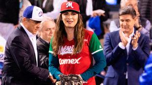 Ana Guevara fue la invitada de lujo en el Estadio Panamericano