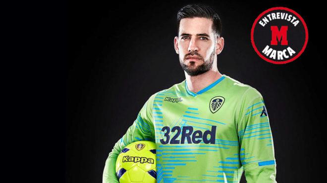 Kiko Casilla in the Leeds United goalkeeper kit.