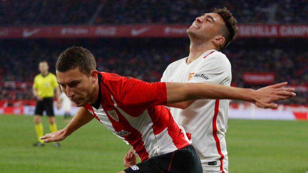 Munir, durante el Sevilla-Athletic de Copa.