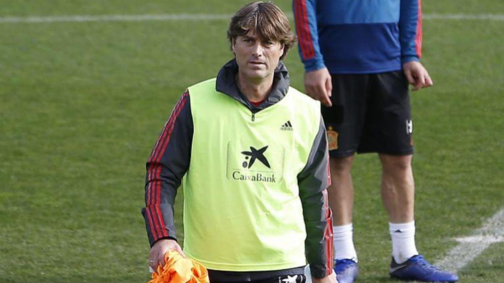 Guerrero, en un entrenamiento con la sub21