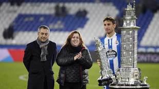 El alcalde Xulio Ferreiro en la entrega de premios del último Teresa...