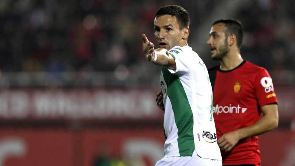 Jovanovic, durante el partido del Córdoba en Mallorca