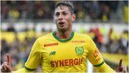 Emiliano Sala celebra un gol contra el Guingamp.