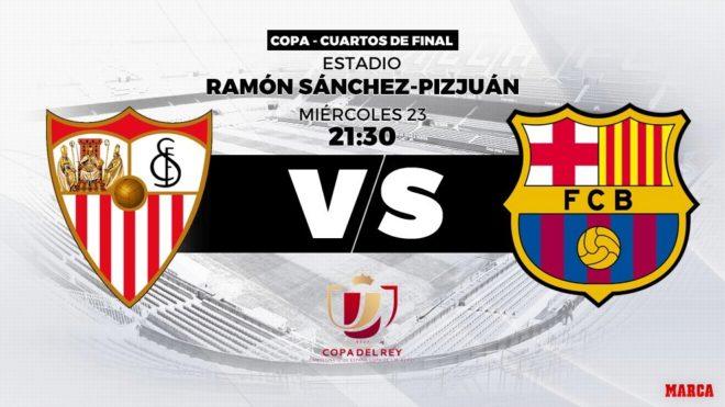 8ffd8d3685639 Sevilla - Barcelona  23 01 2018 - 21 30 - Copa del
