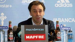 Felipe Miñambres en rueda de prensa.