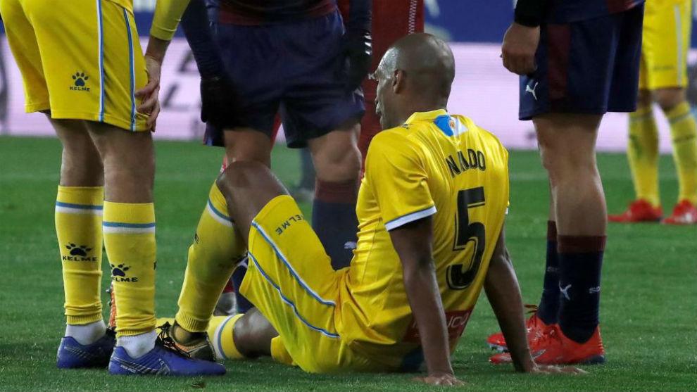Naldo sufre una lesión muscular en el bíceps femoral de la pierna derecha