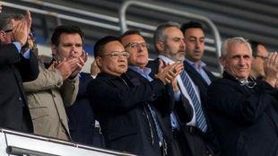 Chen Yansheng, durante un encuentro en el RCDE Stadium