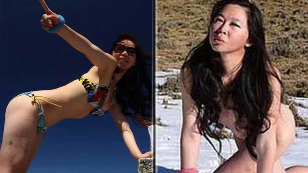 The last pictures from the Bikini Climber Gigi Wu who froze to death...