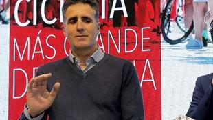 Miguel Indurain, en la presentación del Gran Fondo Ezaro este...