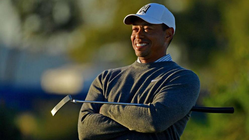 Tiger Woods, durante una vuelta de prácticas en Torrey Pines.