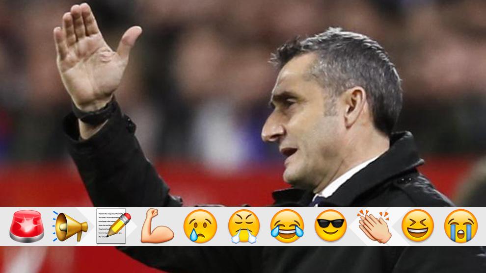 Valverde, en el Sevilla-Barça