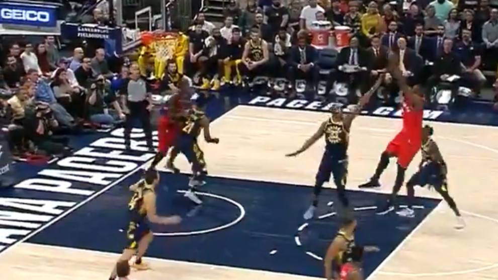 Oladipo, con aparente lesión de rodilla — Pacers