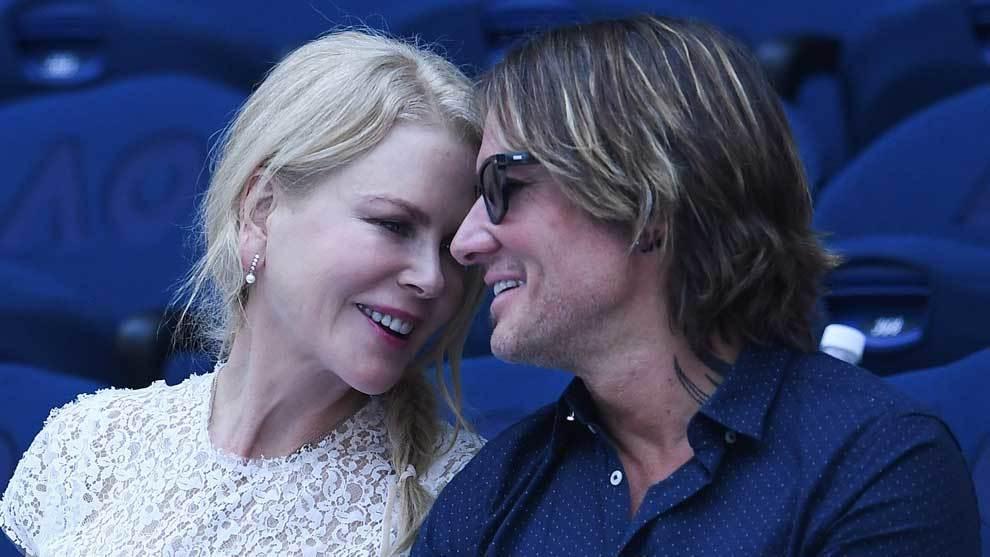 La actriz australiana Nicole Kidman, acompañada por su marido Keith...