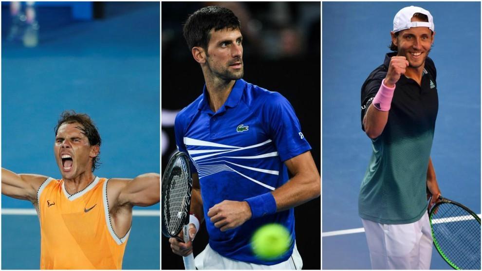 Nadal, Djokovic y Pouille, en Australia