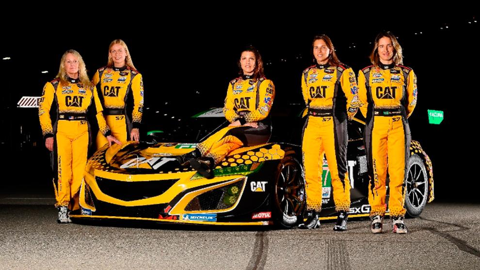 Equipo femenino para las 24 horas de Daytona.