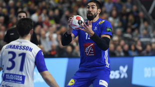 Nikola Karabatic durante el partido frente a Islandia /
