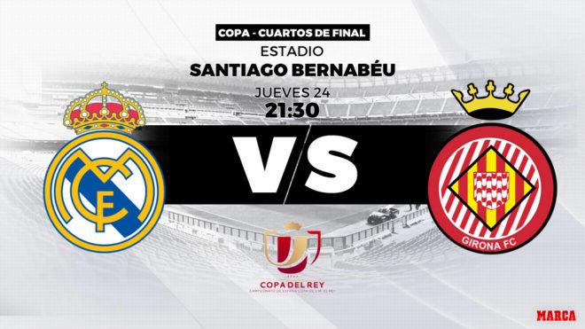 Copa del Rey: Real Madrid - Girona: horario, canal y dónde ver hoy ...