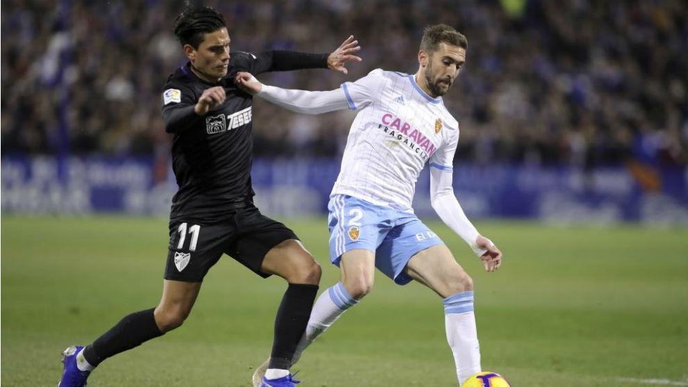 Alberto Benito, en el partido contra el Málaga.