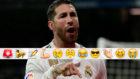 Sergio Ramos celebra uno de sus goles al Girona