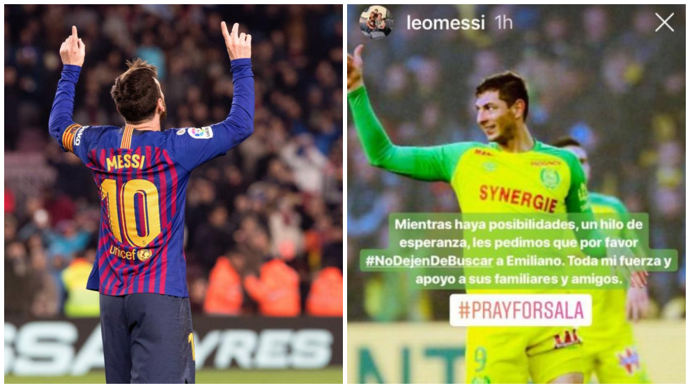 Messi asks that the search for Sala continues