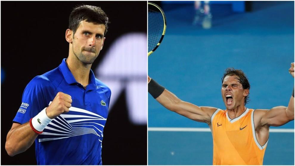 Djokovic y Nadal celebran una victoria