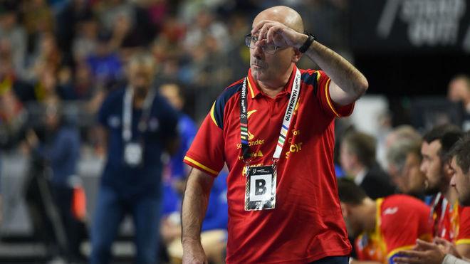 Jordi Ribera durante el partido del Mundial ante Francia /