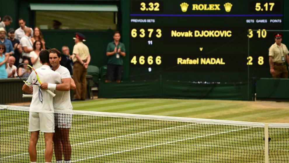 Final del último encuentro entre Federer y Nadal previo a la presente...