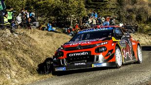 'Seb' manejando su nuevo C3 WRC.