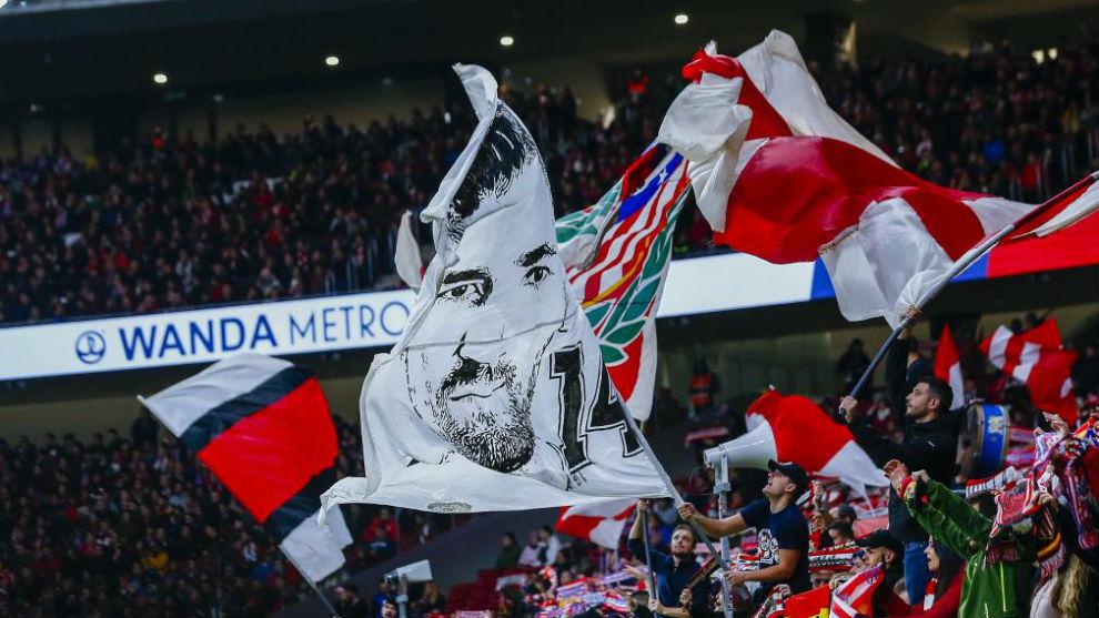 Fondo Sur del Wanda Metropolitano en un partido.