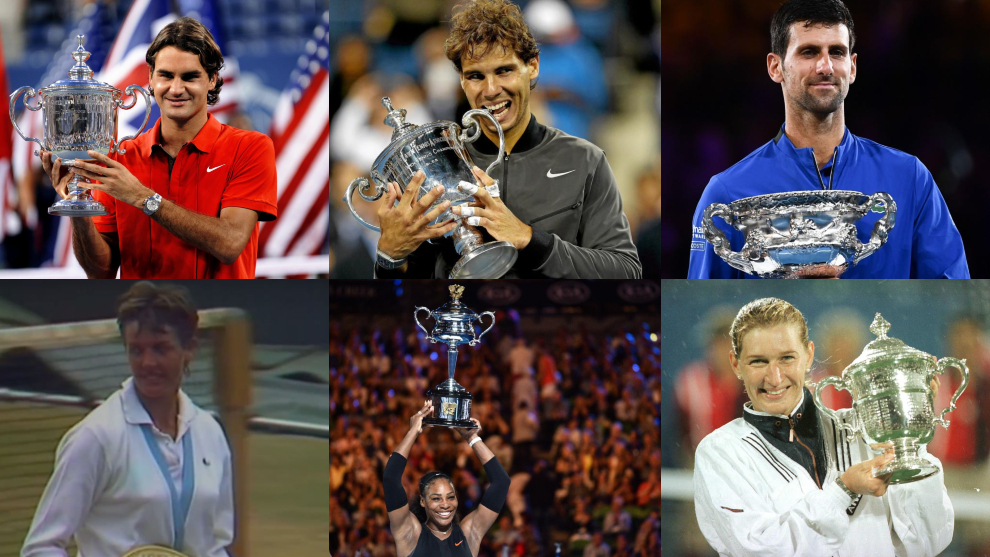 Federer, Nadal, Djokovic, Court, Serena Williams y Graf