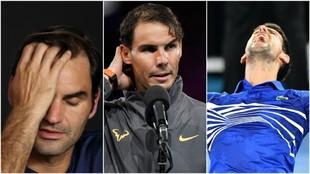 Federer, Nadal y Djokovic, en Australia