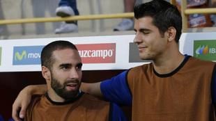 Carvajal y Morata, con la selección