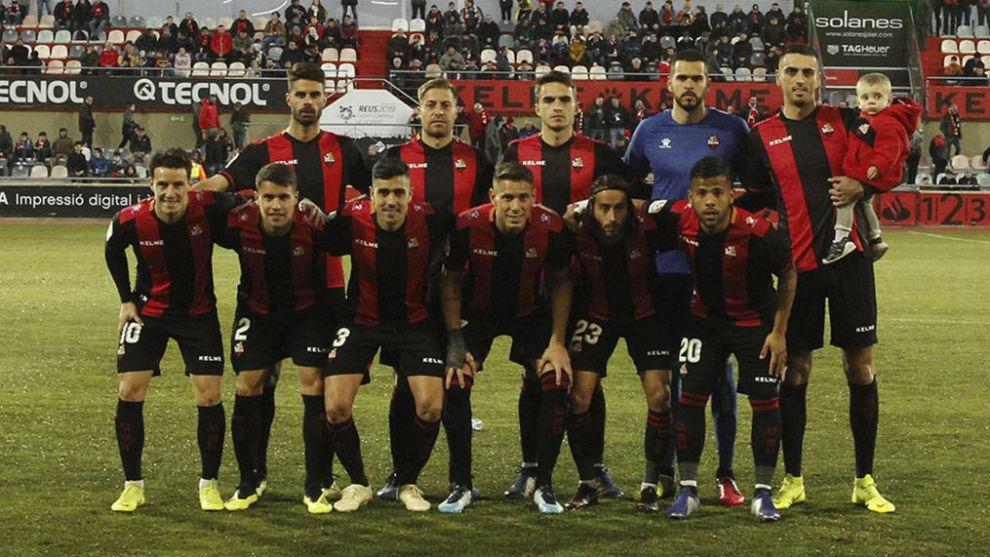 Alineación del Reus en el partido contra el Numancia.