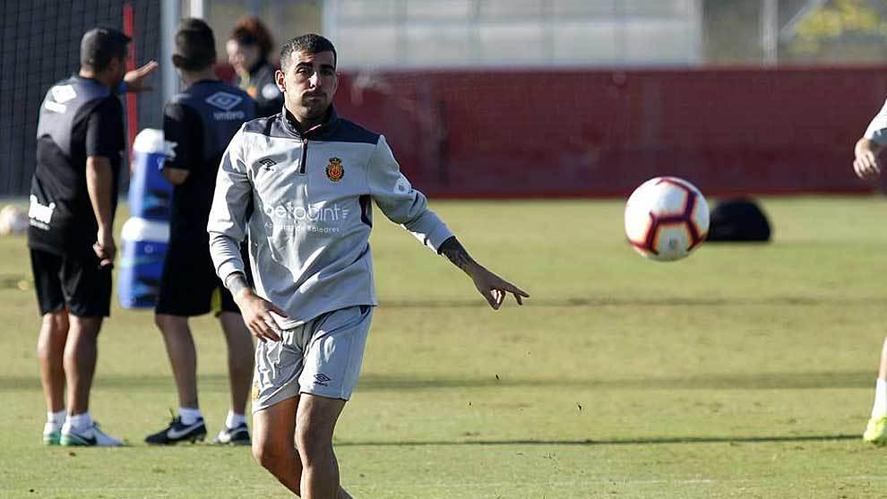 Carlos Castro, durante un entrenamiento en Palma de Mallorca