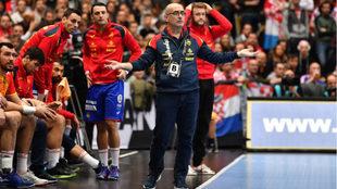 Jordi Ribera, durante un partido del Mundial.