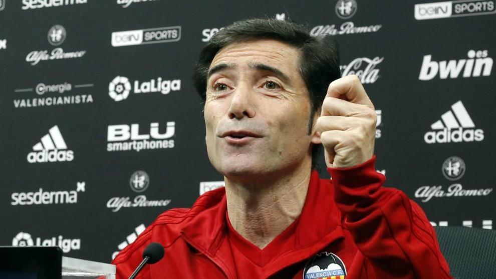 Marcelino in his press conference.