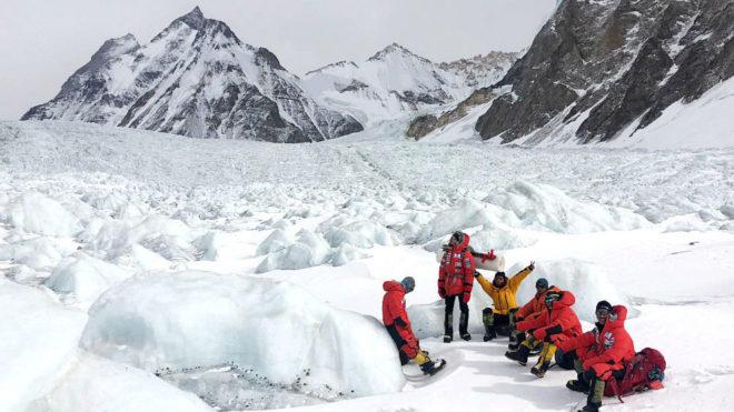 La expedición de Alex Txikon, en el K2.